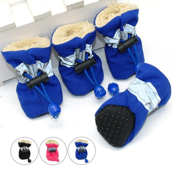 Non-Slip Dog Shoes Sock,Anti-Slip Rubber Boots Waterproof Elastic Paw Protector Dog Boots for Small Medium Large Dogs 4Pcs