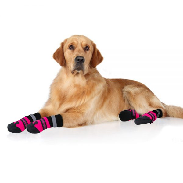 4pcs Waterproof Winter Pet Dog Shoes Anti-slip Snow Pet Boots Paw ...